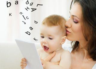 mama, dziecko, niemowlę, mowa, słowa, litery