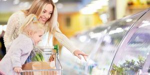 mama, dziecko, sklep, zakupy, żywność