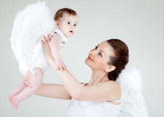 mama i dziecko aniołki