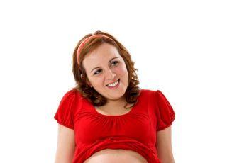 mama, kobieta, ciąża, brzuszek, uśmiech