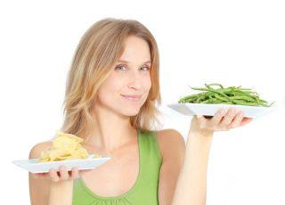 mama, kuchnia, talerz, warzywa, kobieta, dieta