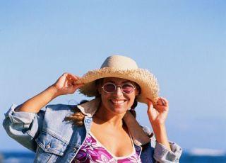 mama, lato, morze, ciąża, brzuszek, strój kąpielowy