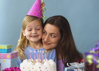 mama, maluch, przyjęcie, urodziny, tort