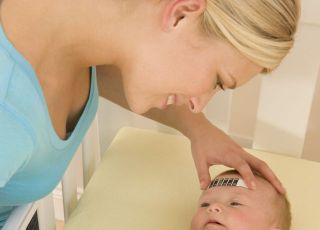 mama, niemowlę, choroba, gorączka, temperatura