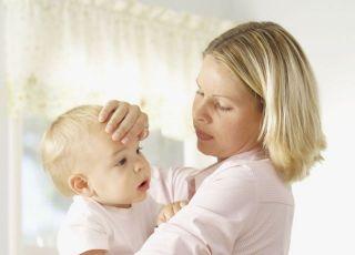 mama, niemowlę, gorączka, zdrowie