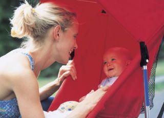 mama, niemowlę, spacer, wózek