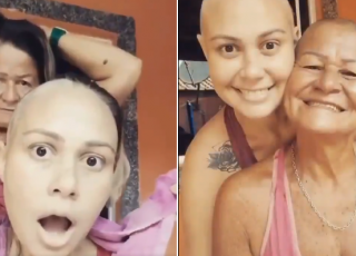 Mama ogoliła głowę z miłości do córki