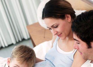 mama, tata, dziecko, ciąża, rodzina