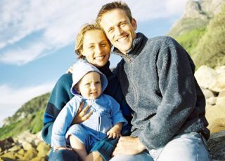 mama, tata, maluch, rodzina, odporność, jesień
