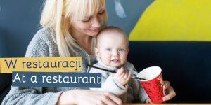 mama w podróży - rozmówki angielskie - w restauracji z dzieckiem