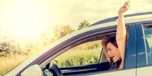 mama w samochodzie