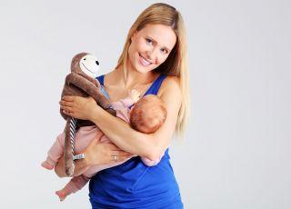 Mama z niemowlakiem i Leniwcem E-zzy od Whisbear