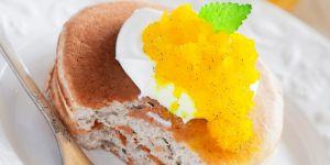 mango, placki, racuchy, naleśniki, śniadanie