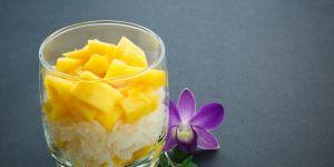 mango, ryż, deser