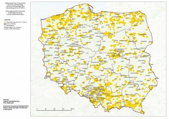 Mapa Występowania barszczu Sosnowskiego w Polsce