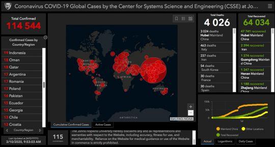 mapa koronawirusa na świecie