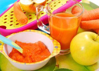 marchew, jabłko, przepis dla dzieci, przepisy kulinarne, przepisy dla niemowląt