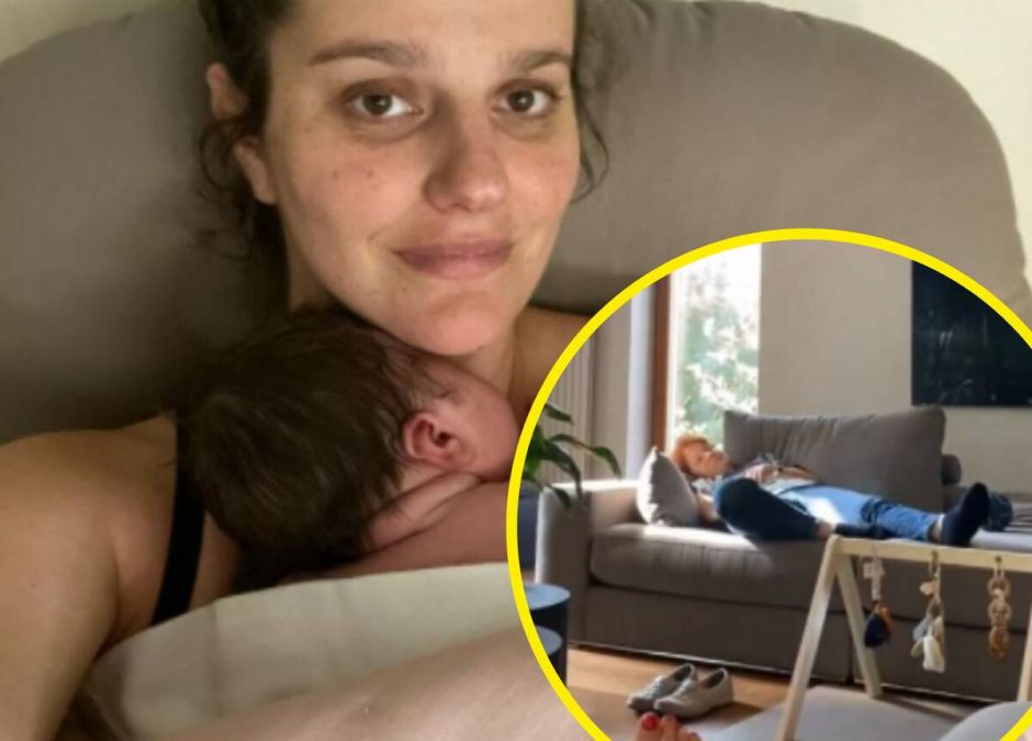 Maria Winiarska opiekuje się wnuczką