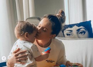 Marina świetuje z synkiem Dzień Dziecka
