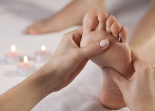 masaż, stopa, noga, masaż stóp