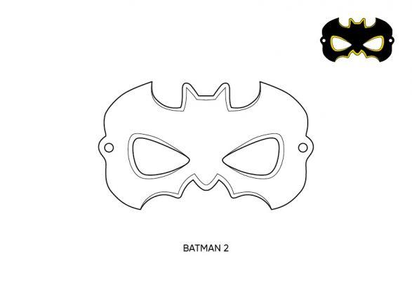 maska Batman wzór
