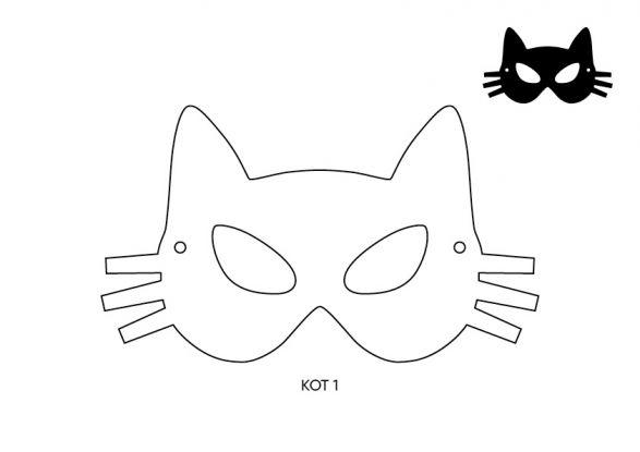 maska kota szablon 1