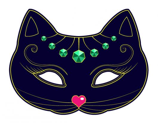 maska kota szablon