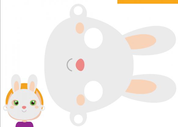 maska królika szablon