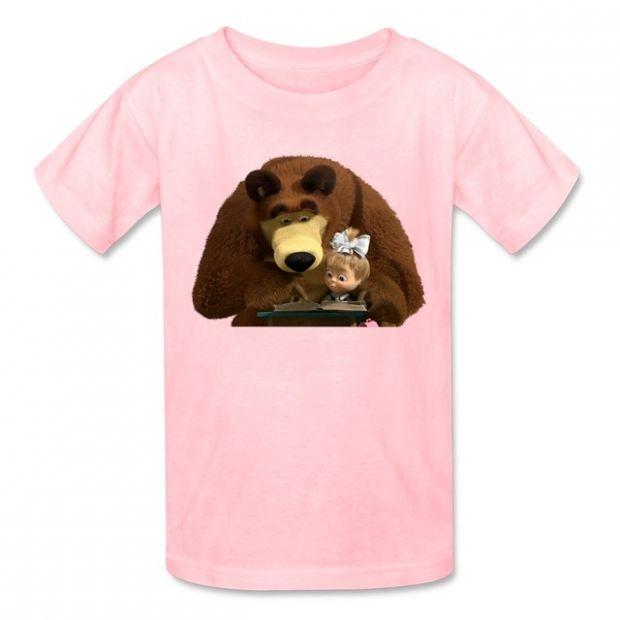 masza i niedźwiedź t-shirt z krótkim rękawem różowy alliexpress.com.jpg