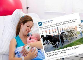 matka z noworodkiem odjechali ze szpitala w Tczewie karetą