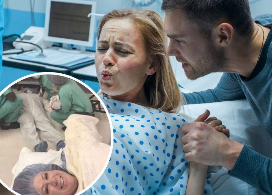Mąż zemdlał przy porodzie, Instagram/bebemomelife