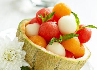 melon, sałatka, arbuz, owoce