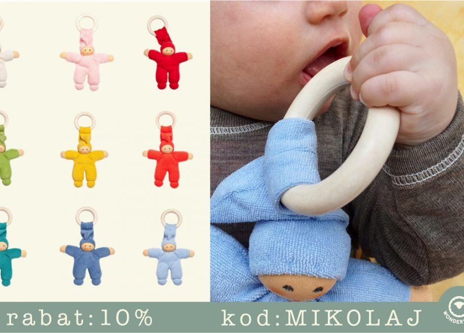 Merino ubranka dla dzieci gryzak zabawka