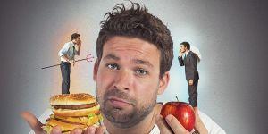 mężczyzna, dieta, jedzenie