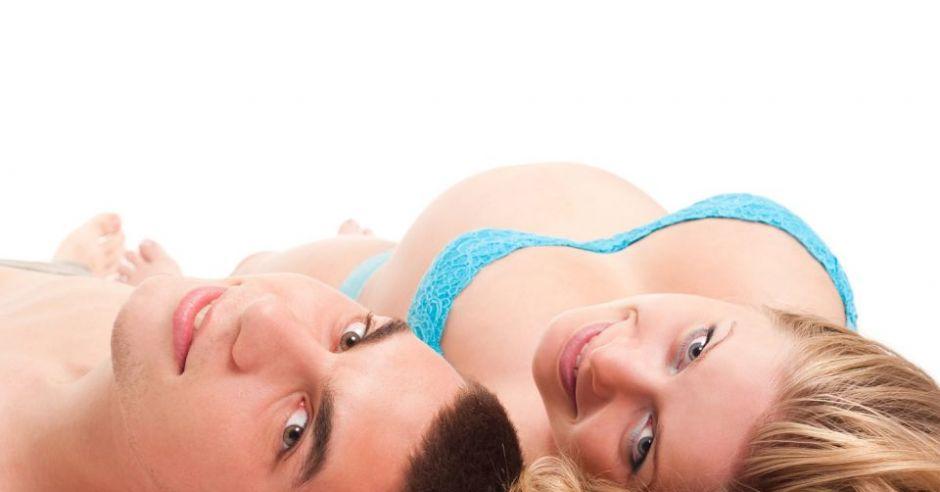 mężczyzna, kobieta, sex, ciąża, brzuszek