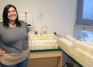 Micah Duncan oddała prawie 60 litrów mleka do Banku Mleka Kobiecego