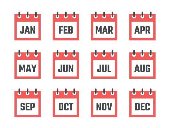 miesiące po angielsku - memo