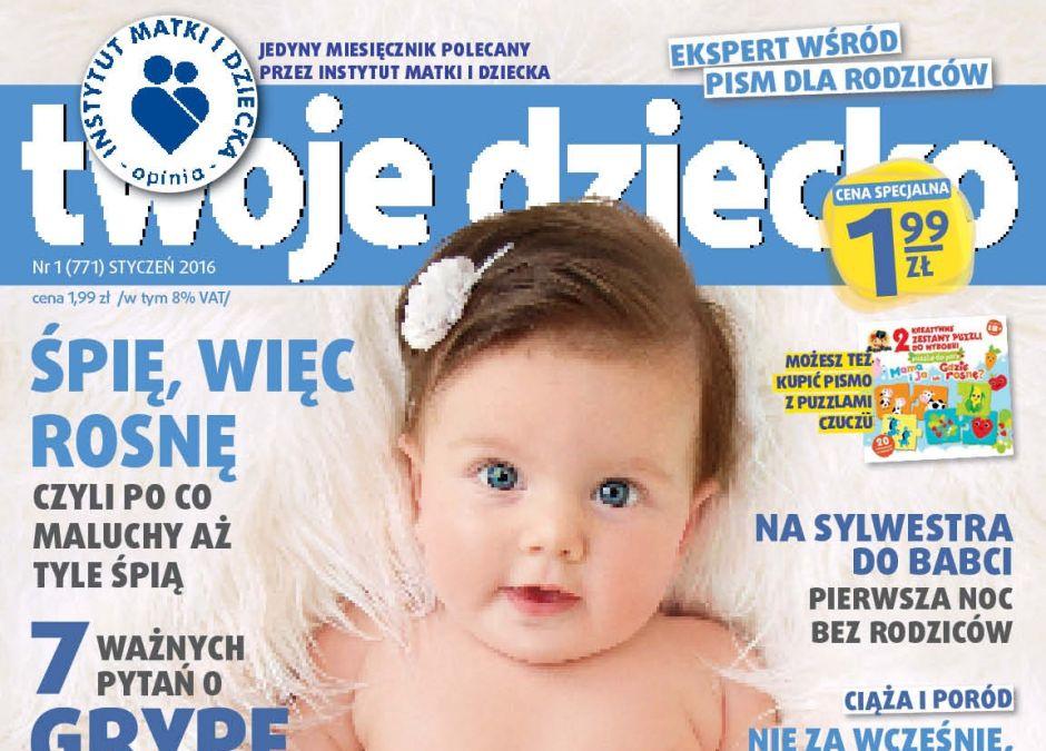miesięcznik Twoje Dziecko styczeń 2016