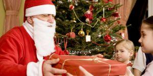 mikołaj, dzieci, choinka, święta, Boże Narodzenie, prezenty