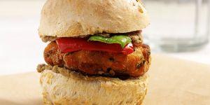 Minihamburger z łososiem