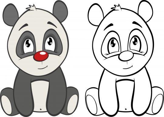 jak narysować misia pandę