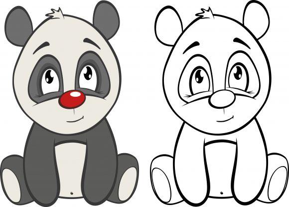 kolorowanka miś panda