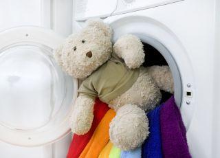 miś, zabawka, pluszak, pranie