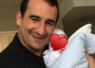 Misiek Koterski z synem