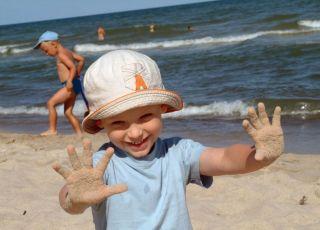 morze, dziecko, lato, wakacje
