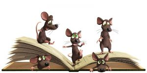 Myszki na książce, książka