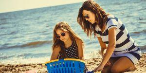 na plazy z dzieckiem
