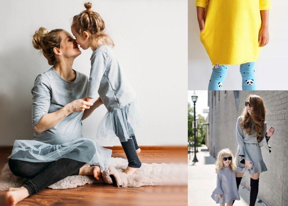 najmodniejsze matching dresses - sukienki dla mamy i córki dresowe
