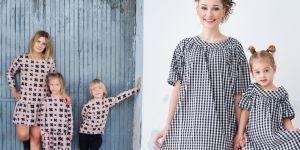 najmodniejsze sukienki dla mamy i córeczki plus coś dla synka