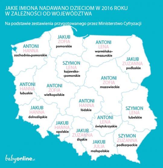 Najpopularniejsze imiona dla dzieci 2016 – ranking | Mamotoja.pl